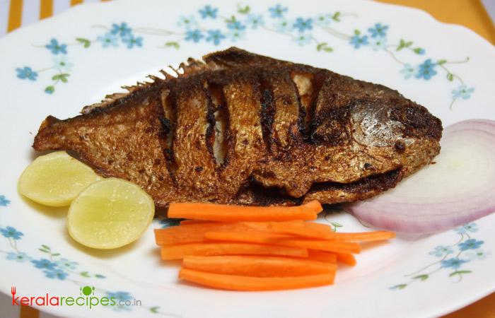 Raw mango Fish fry