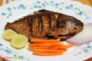 Raw mango Fish fry